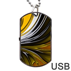 Colors Dog Tag Usb Flash (one Side) by ValentinaDesign