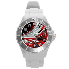 Colors Round Plastic Sport Watch (l) by ValentinaDesign
