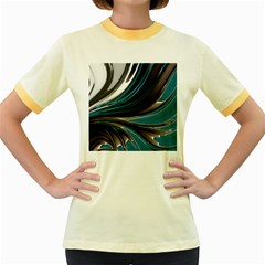 Colors Women s Fitted Ringer T Shirts by ValentinaDesign
