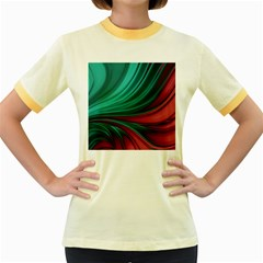 Colors Women s Fitted Ringer T-shirts by ValentinaDesign