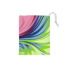 Colors Drawstring Pouches (small)  by ValentinaDesign
