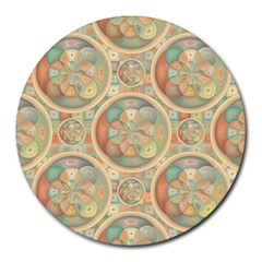 Complex Geometric Pattern Round Mousepads by linceazul