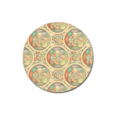 Complex Geometric Pattern Magnet 3  (round) by linceazul