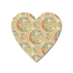 Complex Geometric Pattern Heart Magnet by linceazul