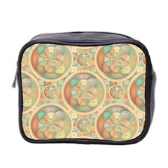 Complex Geometric Pattern Mini Toiletries Bag 2 Side by linceazul