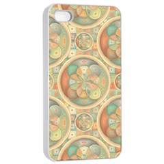 Complex Geometric Pattern Apple Iphone 4/4s Seamless Case (white) by linceazul