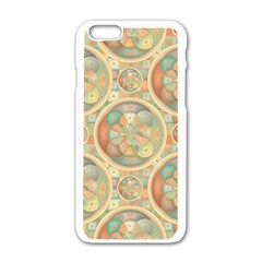 Complex Geometric Pattern Apple Iphone 6/6s White Enamel Case by linceazul