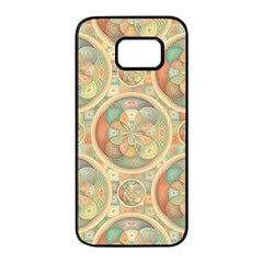 Complex Geometric Pattern Samsung Galaxy S7 Edge Black Seamless Case by linceazul