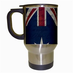 Vintage Australian Flag Travel Mugs (white) by ValentinaDesign