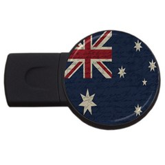 Vintage Australian Flag Usb Flash Drive Round (4 Gb) by ValentinaDesign
