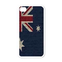 Vintage Australian Flag Apple Iphone 4 Case (white) by ValentinaDesign