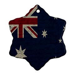 Vintage Australian Flag Snowflake Ornament (two Sides) by ValentinaDesign