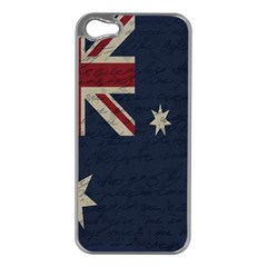 Vintage Australian Flag Apple Iphone 5 Case (silver) by ValentinaDesign