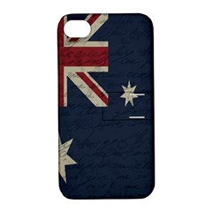 Vintage Australian Flag Apple Iphone 4/4s Hardshell Case With Stand