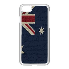 Vintage Australian Flag Apple Iphone 7 Seamless Case (white) by ValentinaDesign