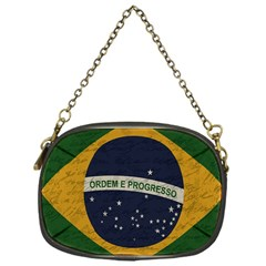 Vintage Flag   Brasil Chain Purses (one Side)  by ValentinaDesign