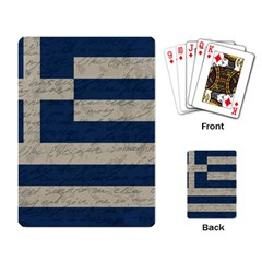 Vintage Flag   Greece Playing Card