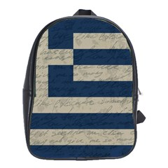 Vintage Flag   Greece School Bags(large)  by ValentinaDesign