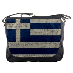 Vintage Flag   Greece Messenger Bags by ValentinaDesign