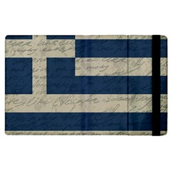 Vintage Flag   Greece Apple Ipad 3/4 Flip Case by ValentinaDesign