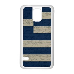Vintage Flag   Greece Samsung Galaxy S5 Case (white) by ValentinaDesign
