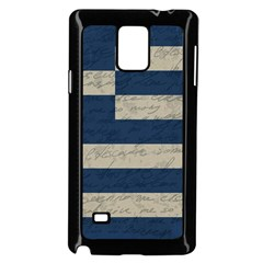 Vintage Flag - Greece Samsung Galaxy Note 4 Case (black) by ValentinaDesign