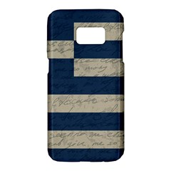 Vintage Flag   Greece Samsung Galaxy S7 Hardshell Case  by ValentinaDesign