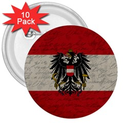 Vintage Flag   Austria 3  Buttons (10 Pack)  by ValentinaDesign