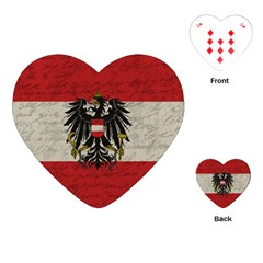 Vintage Flag   Austria Playing Cards (heart)  by ValentinaDesign