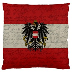 Vintage Flag   Austria Large Cushion Case (two Sides) by ValentinaDesign