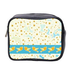 Birds And Daisies Mini Toiletries Bag 2 Side by linceazul