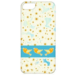 Birds And Daisies Apple Iphone 5 Classic Hardshell Case by linceazul