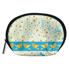 Birds And Daisies Accessory Pouches (medium)  by linceazul