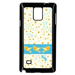 Birds And Daisies Samsung Galaxy Note 4 Case (black) by linceazul