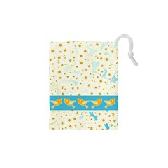 Birds And Daisies Drawstring Pouches (xs)  by linceazul