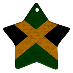 Vintage Flag   Jamaica Ornament (star) by ValentinaDesign