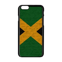 Vintage Flag   Jamaica Apple Iphone 6/6s Black Enamel Case