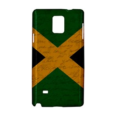 Vintage Flag   Jamaica Samsung Galaxy Note 4 Hardshell Case by ValentinaDesign