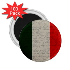 Vintage Flag   Italia 2 25  Magnets (100 Pack)  by ValentinaDesign