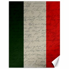 Vintage Flag   Italia Canvas 18  X 24   by ValentinaDesign