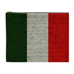 Vintage Flag   Italia Cosmetic Bag (xl) by ValentinaDesign