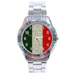 Vintage Flag   Italia Stainless Steel Analogue Watch by ValentinaDesign