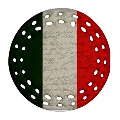 Vintage Flag   Italia Round Filigree Ornament (two Sides) by ValentinaDesign