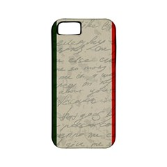 Vintage Flag   Italia Apple Iphone 5 Classic Hardshell Case (pc+silicone) by ValentinaDesign
