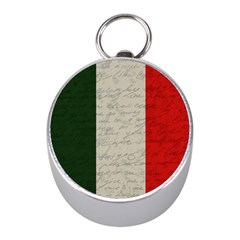 Vintage Flag   Italia Mini Silver Compasses by ValentinaDesign