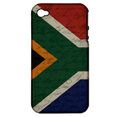 Vintage Flag   South Africa Apple Iphone 4/4s Hardshell Case (pc+silicone) by ValentinaDesign