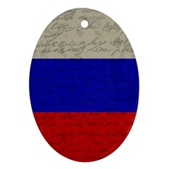 Vintage Flag   Russia Oval Ornament (two Sides) by ValentinaDesign
