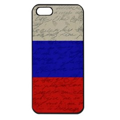 Vintage Flag   Russia Apple Iphone 5 Seamless Case (black) by ValentinaDesign
