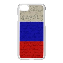Vintage Flag   Russia Apple Iphone 7 Seamless Case (white) by ValentinaDesign