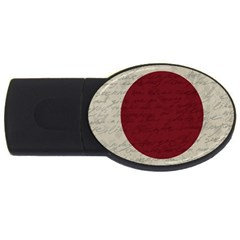 Vintage Flag   Japan Usb Flash Drive Oval (4 Gb) by ValentinaDesign
